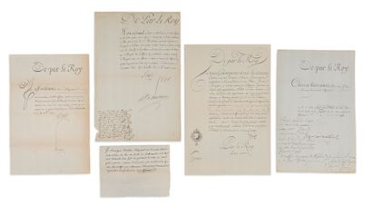 LETTRES DE CACHET.  3 L.S. de LOUIS XVI...