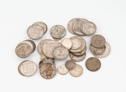 Lot de pièces de monnaie en argent (min....