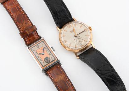 Deux montres bracelets d'homme.  Boîtiers...