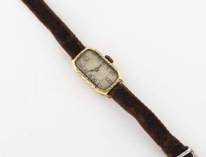 Montre bracelet de dame.  Boîtier rectangulaire...