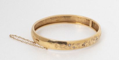 Bracelet jonc ouvrant, en or jaune (750)...