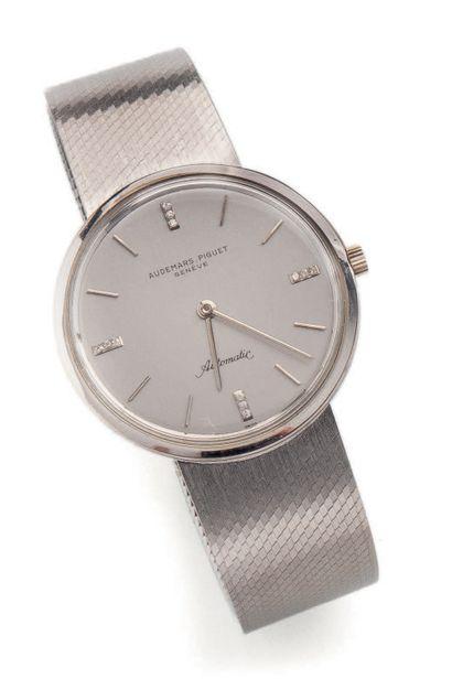 AUDEMARS-PIGUET, Genève Montre bracelet d'homme en or gris (750). Boîtier rond, à...