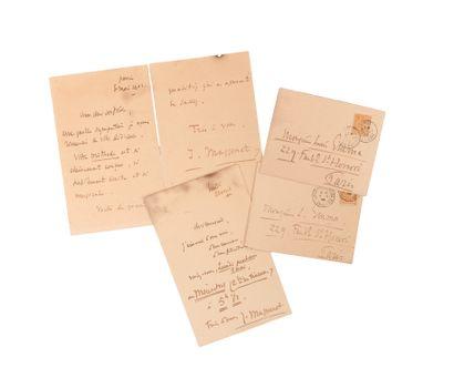 Jacques maritain (1882-1973). MANUSCRIT autographe signé, [Henri Ghéon]; 6pages...