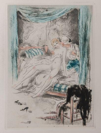 CREBILLON - ICART (Louis). La nuit et le moment. Paris, Guillot, s.d., pet. in-fol....