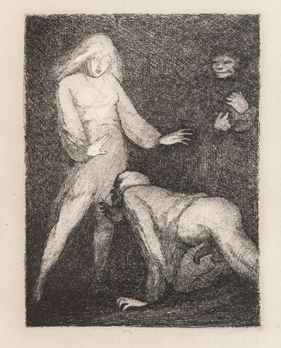 NOE (Georges) & MEROVE (Marie) Tire la chevillette.  Avec 18 compositions dessinées...