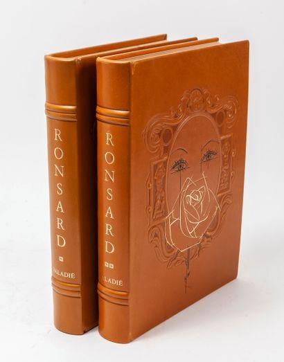 RONSARD (Pierre de) - VALADIE (J.B.). Les amours. Paris, Editions de l'Odéon,1983,...