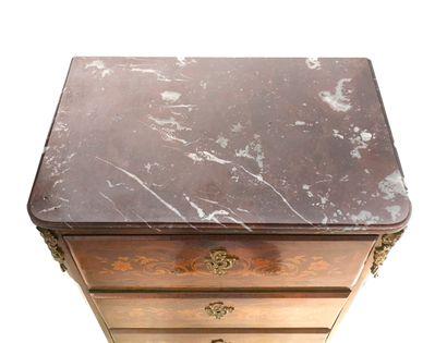 FRANCE, style Louis XV, seconde moitié du XIXème siècle. A rosewood veneered chiffonier...