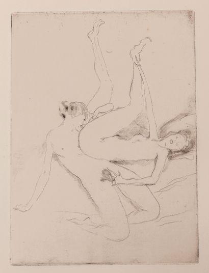 DOMERGUE (Jean-Gabriel,1889-1962) Les Après-midi d'un faune. Paris, 1924, in-4, en...