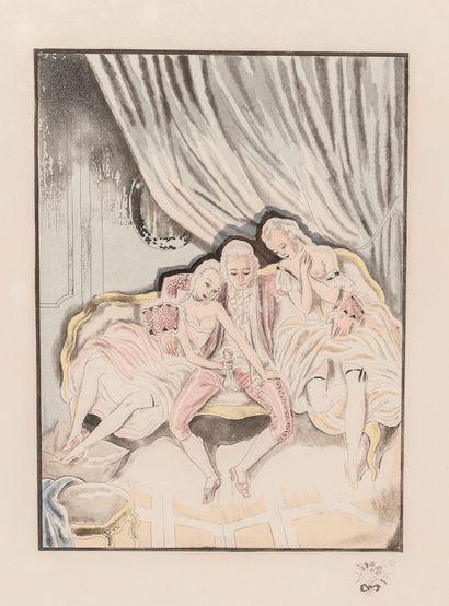 CASANOVA. Mémoires de Casanova. Paris, S.l (Paul Cotinaud), 1932, in-4, en feuilles...