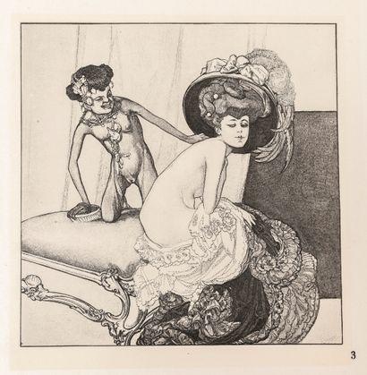 BAYROS (Franz von). Im Garten der Aphrodite.18 bildgaben von Franz von Bayros. Privatdruck,...