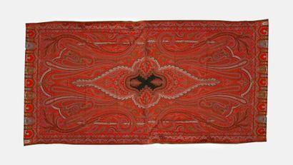 Rectangular Lyonnais shawl in the style of...