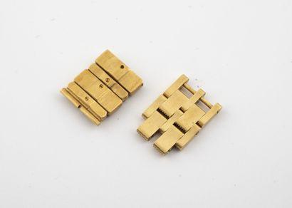 Lot en or jaune (750) comprenant :  - Deux...