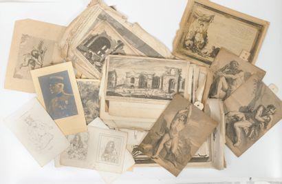 Un lot comprenant :  - gravures anciennes....