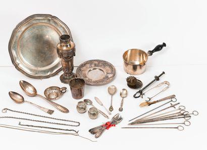 Lot en métal argenté de différents orfèvres :