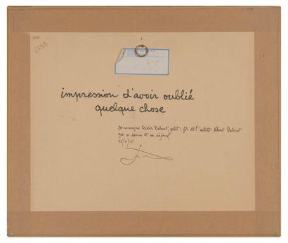 Albert DUBOUT (1905-1976) Ils marchaient toujours, 1933.  C'est curieux ! J'ai l'impression...
