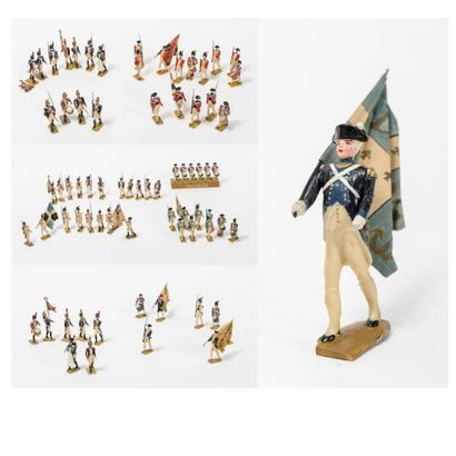 Strong lot of small soldiers and flag bearers....