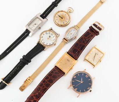 Lot de montres bracelets et une montre de...