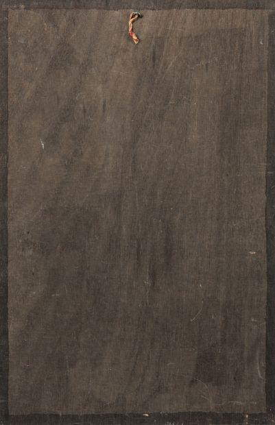 James GUITET (1925-2010) Sans titre, 1966.  Technique mixte sur panneau.  Signé,...