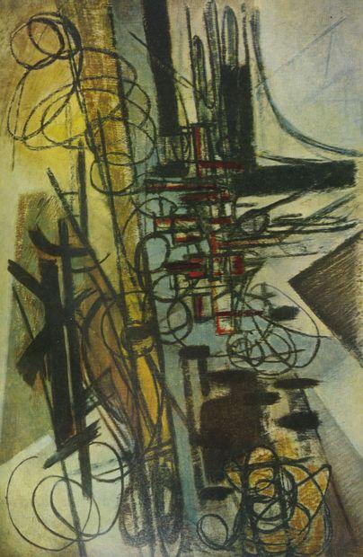 COLLECTIF Hans Hartung.  Plaquette, Galerie de France, Paris, 1960, Imprimerie du...