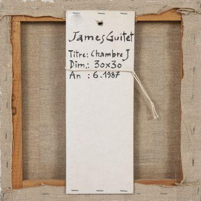 James GUITET (1925-2010) Chambre J, 1987.  Technique mixte sur toile.  Signée et...