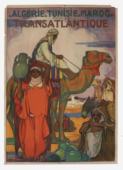 Jeanne THIL (1887-1968) Algérie, Maroc, Tunisie par la Transatlantique, circa 1920....