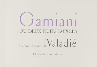 [DE MUSSET, Alfred] Gamiani ou Deux nuits d'excès.  Editions du Plaisir du livre....