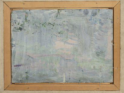Jean PESKÉ (1870-1949) Nature morte aux poires.  Huile sur panneau.  Signé en bas...