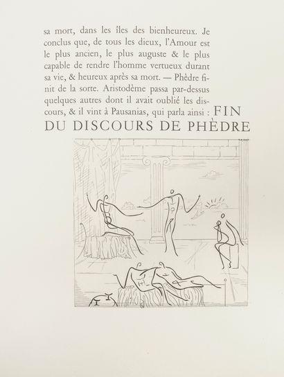 PLATON Le banquet.  Burins originaux de Roger VIEILLARD.  Editions La nouvelle édition,...