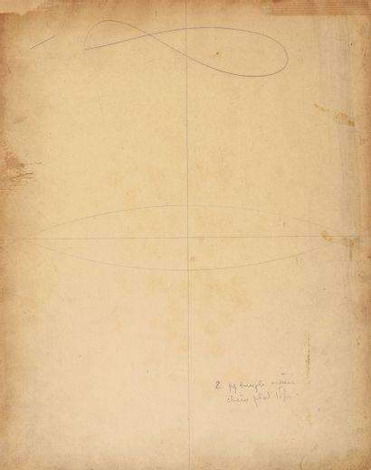 Théophile Steinlen (1859-1923) La conversation.  Fusain, crayons de couleur et aquarelle...