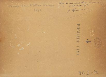 Henri Emilien ROUSSEAU (1875-1933) Voyage dans l'Atlas marocain, 1932.  Huile sur...