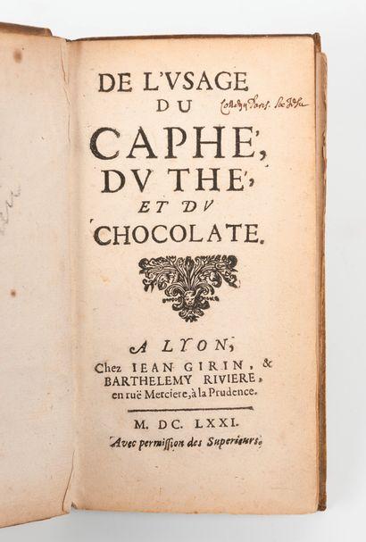 De l'usage du caphé, du thé et du chocolate....