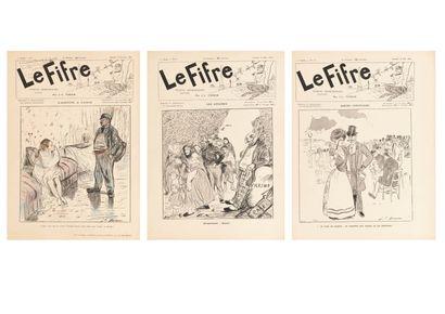 LE FIFRE, quinze fascicules de 1889.  L'un...
