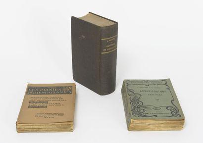 Lot de livres reliés et brochés comprenant :