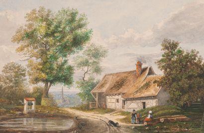 Emile COUTURIER (XIX-XXe siècle) * Emile COUTURIER (XIX-XXe siècle)  - Ruines. Signée...