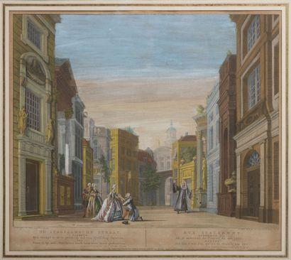 D'après J.G WALDORP ou d'après J. ANDRIESSEN & H. NUMAN Rue hollandaise et rue italienne....