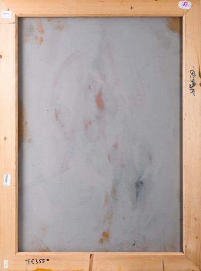 Francky CRIQUET (1968) Sans titre.  Huile sur toile.  Signée en bas vers la droite....