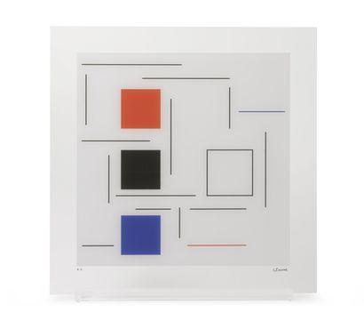 Geneviève Claisse (1935-2018) Untitled, 2016.  Silkscreen on plexiglass.  Artist's...