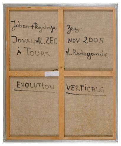 Jovan R. ZEC (1943) Evolution verticale, 2005.  Huile sur toile.  Signée, située...