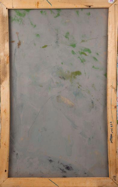 Francky CRIQUET (1968) Sans titre.  Huile sur toile.  Signée en bas à droite.  147...