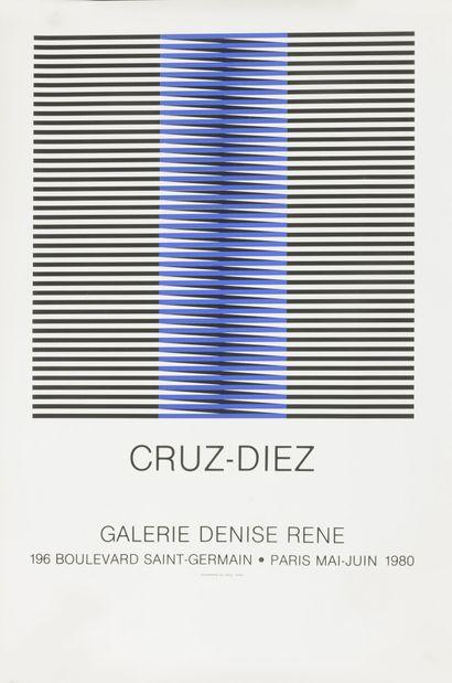 D'après Carlos CRUZ-DIEZ Sans titre, 1980.  Sérigraphie sur papier.  Non signé.  Affiche...
