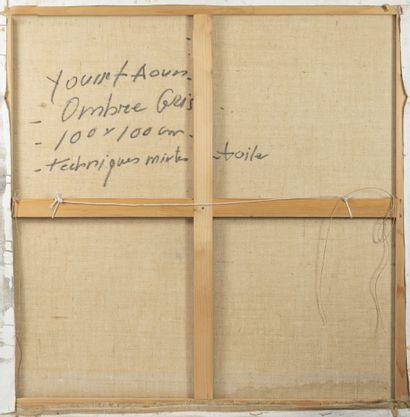 Youssef AOUN (1965) Ombre grise, 2003.  Technique mixte sur toile.  Signée et datée...