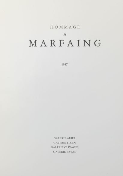 COLLECTIF Hommage à Marfaing, 1987.  Galerie Ariel, Galerie Biren, Galerie Clivages,...