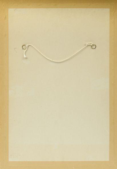 Daniel AUTHOUART (1943) Don't Walk,1998.  Aquarelle et gouache sur papier.  Signé...