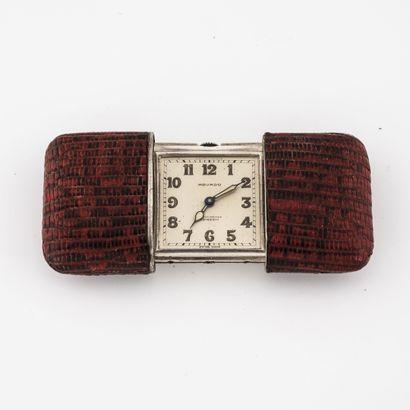 MOVADO, Chronomètre Ermeto Petit réveil de poche en argent (935 / min. 800)  Cadran...