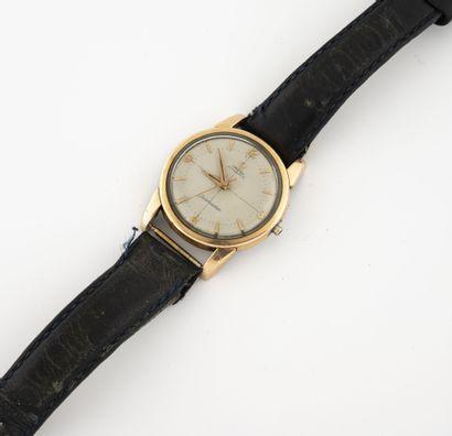 OMÉGA, Seamaster Montre bracelet d'homme.  Boîtier rond en acier et métal doré.  Cadran...
