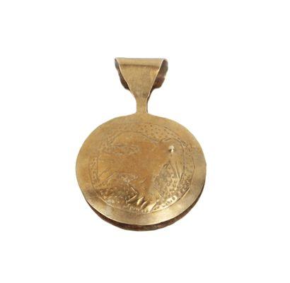 CULTURE CHIMU (11000 - 1400 apr. J.-C.) Pince à épiler.  Chaque face circulaire est...