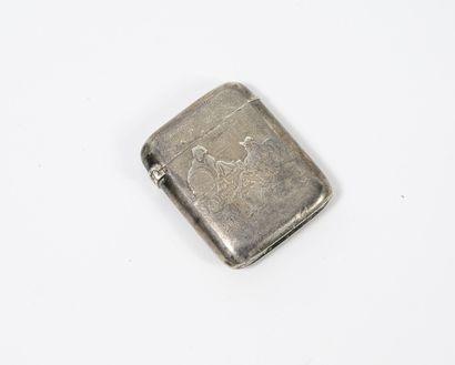 Boîte à allumettes en argent (800) à une...