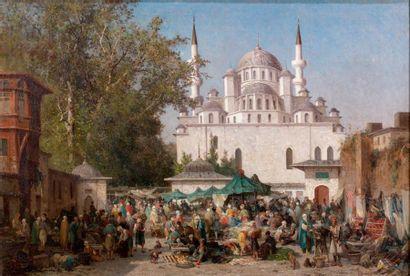 Fabius BREST (1823-1900) Le Khan de la sultane Validé à Constantinople, [18]61. Huile...