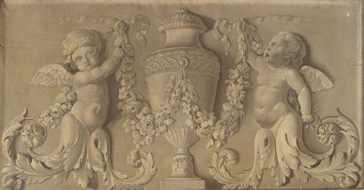 Ecole française de la seconde moitié du XIXème siècle, dans le goût du XVIIIème siècle