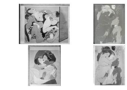 JAPON, XXème siècle, d'après Isoda KORUSAI (1735-1790)
